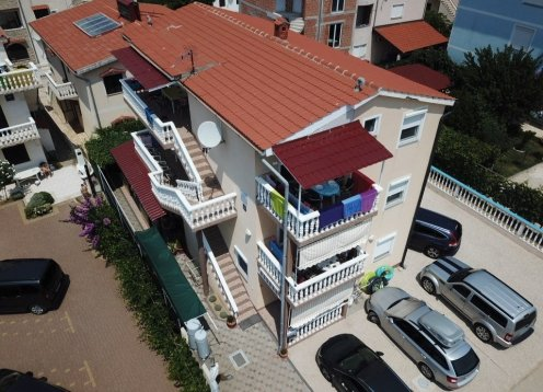 Apartments Takač A4 (2 + 2) Privlaka-Zaton Sandy beach