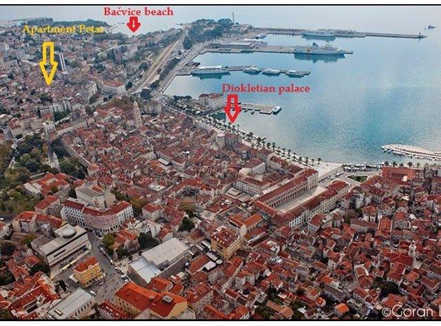Apartman Petar u starom dijelu Splita (3+1)
