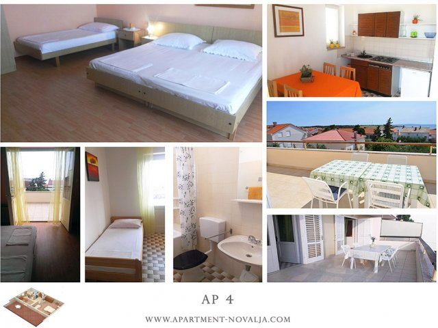 Apartmani Tomislav - Novalja AP4 (3+1)
