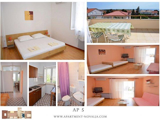 Apartmani Tomislav - Novalja AP5 (4+1)