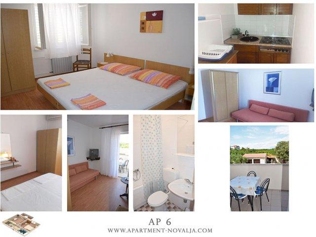 Apartmani Tomislav - Novalja AP6 (2+2)
