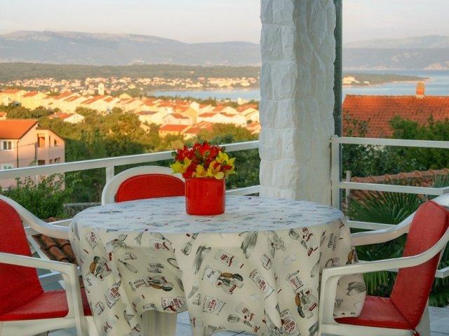 Apartman Ivo - Malinska (4+0) pogled na more