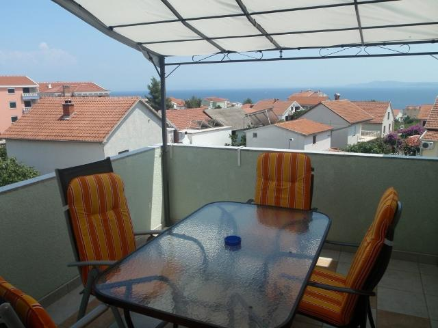 Apartmani Otok - Trogir, Čiovo, Okrug Gornji AP3 (2+2), pogled na more