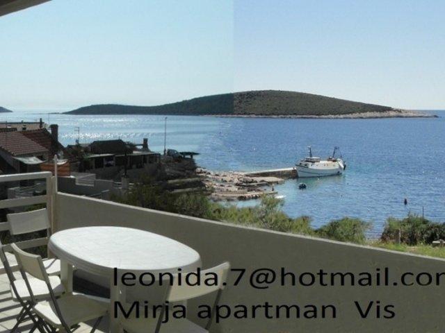 Mirja Apartman, otok Vis, uvala Rukavac,pogled na more-50m, WiFi,Klima